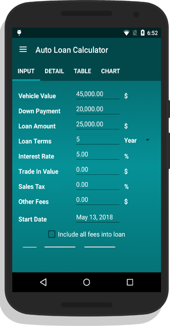 Auto Loan Calculator App